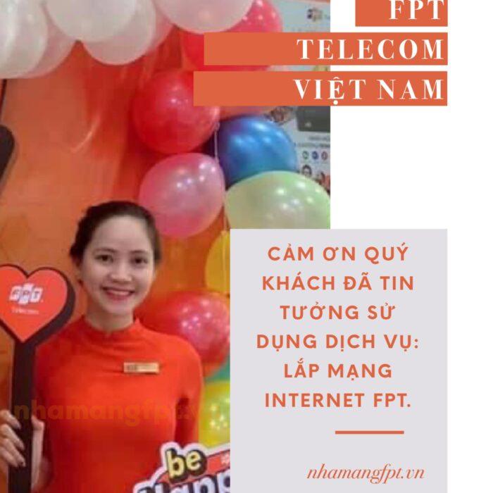 FPT Telecom xin cảm ơn quý khách đang luôn tin tưởng sử dụng dịch vụ internet FPT.