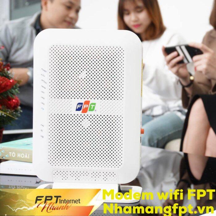 Toàn bộ modem wifi nhà mạng FPT cung cấp đều chuẩn AC 2 băng tần.