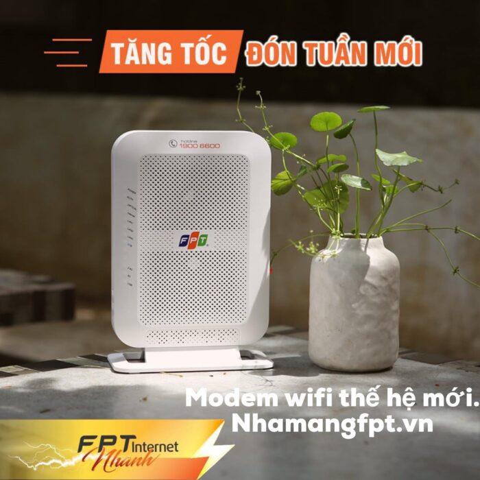 FPT Telecom trang bị modem wifi chuẩn AC cho tất cả các khách hàng lắp mới ở Quận Gò Vấp.