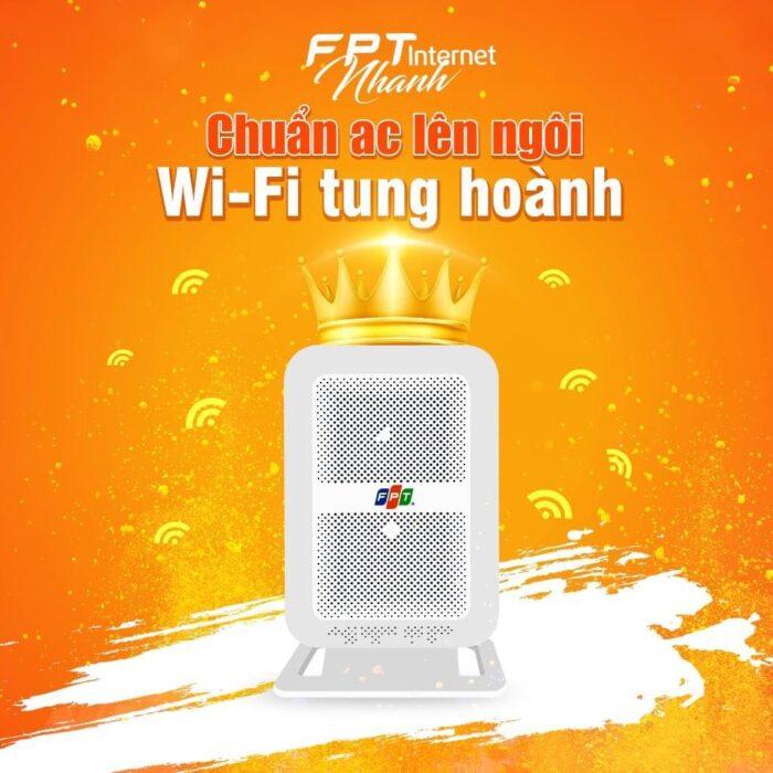 Modem wifi FPT chuẩn AC hiện đại với băng tần 5.0Ghz.