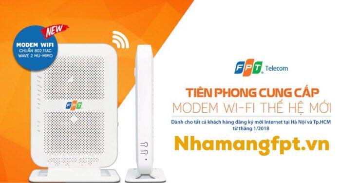 Modem wifi chuẩn AC đi kèm gói cước FPT Super45.