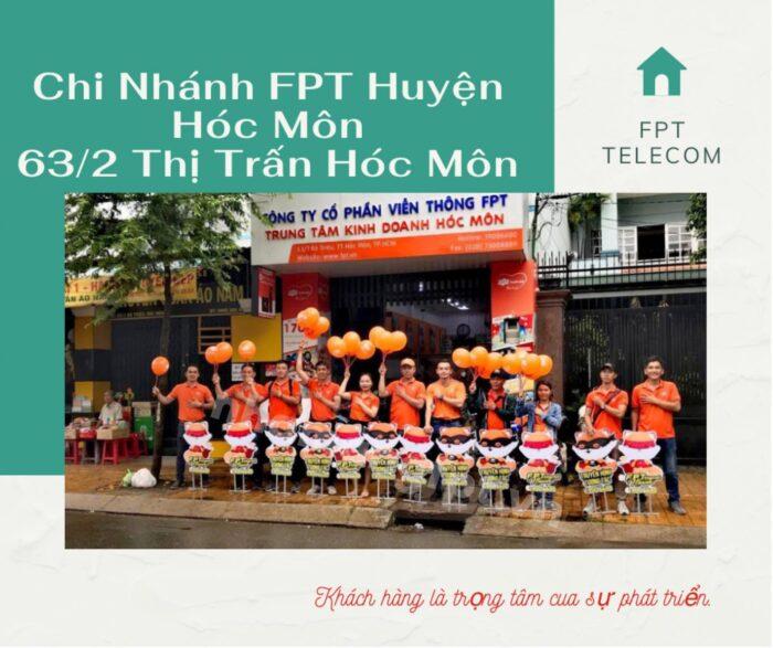 Chi nhánh FPT Huyện Hóc Môn nằm ngay ở Đường Bà Triệu, T.T Hóc Môn.