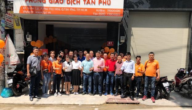 Địa chỉ chi nhánh FPT Quận Tân Phú ở 61 Vườn Lài, Phú Thọ Hòa.