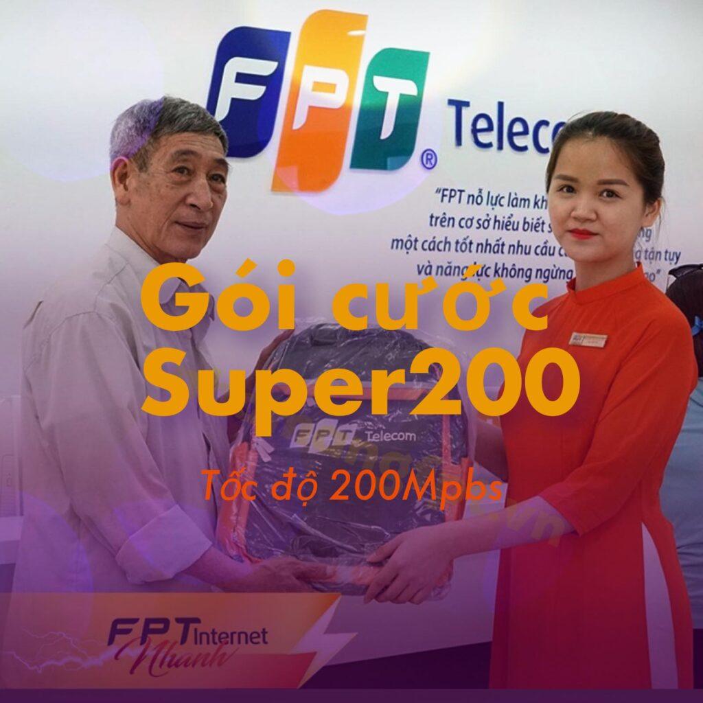 Giới thiệu gói cước FPT Super200.