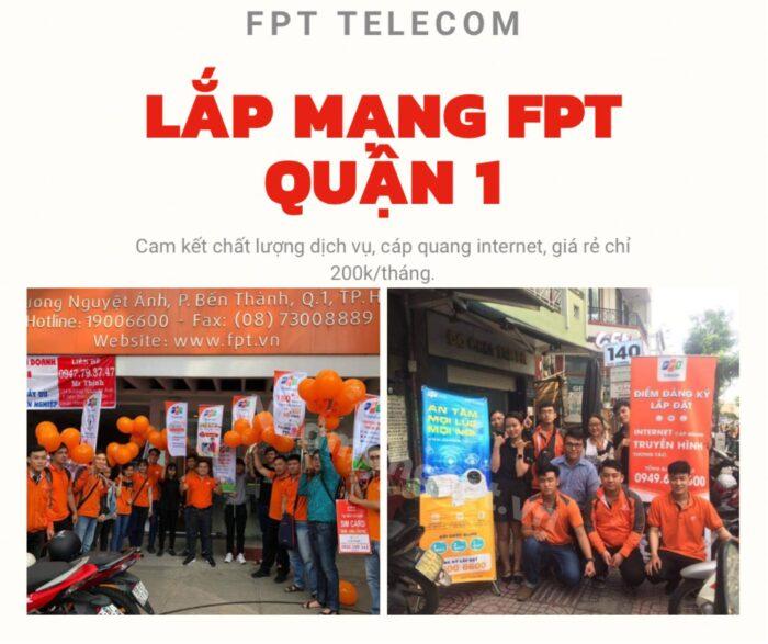 Lắp mạng FPT Quận 1 cam kết giá rẻ, chất lượng và nhanh chóng.