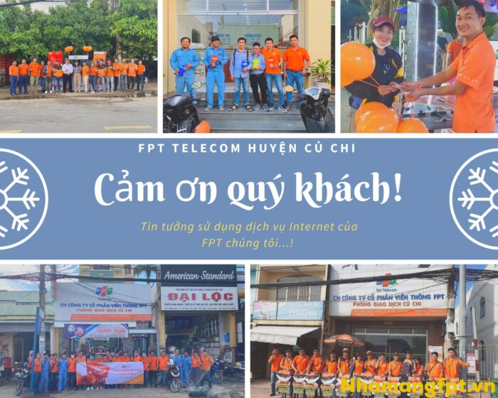 Cảm ơn quý khách đã luôn yêu quý và tin tưởng sử dụng dịch vụ FPT ở Củ Chi.