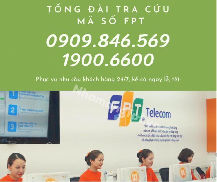 Tổng đài tra cứu hợp đồng mạng FPT 19006600 - 0909.846.569