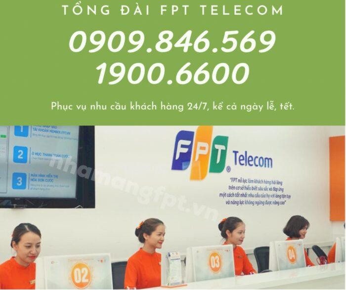 Tổng đài FPT Quận Phú Nhuận trực cả ngày. 24/7, kể cả ngày lễ tết.