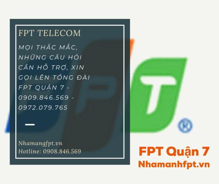 Tổng đài FPT Quận 7 cam kết tiếp nhận và xử lý 100% yêu cầu hỗ trợ của khách hàng.