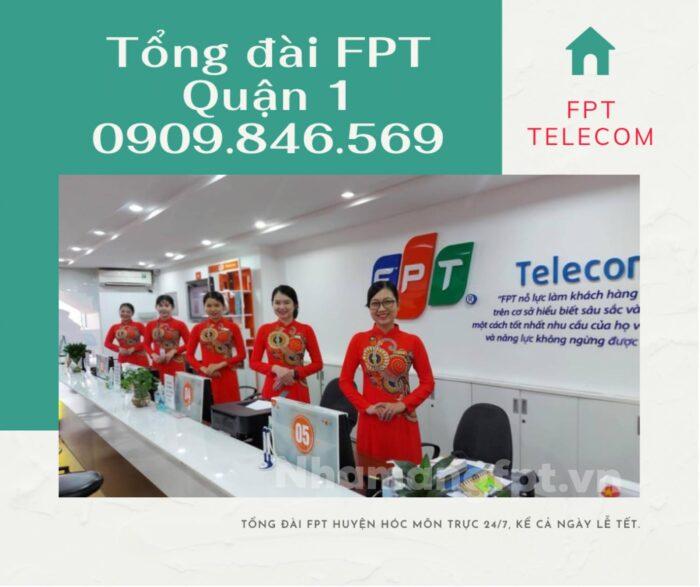 Tổng đài kỹ thuật FPT Quận 1 hoạt động 24/7, kể cả ngày lễ, tết.
