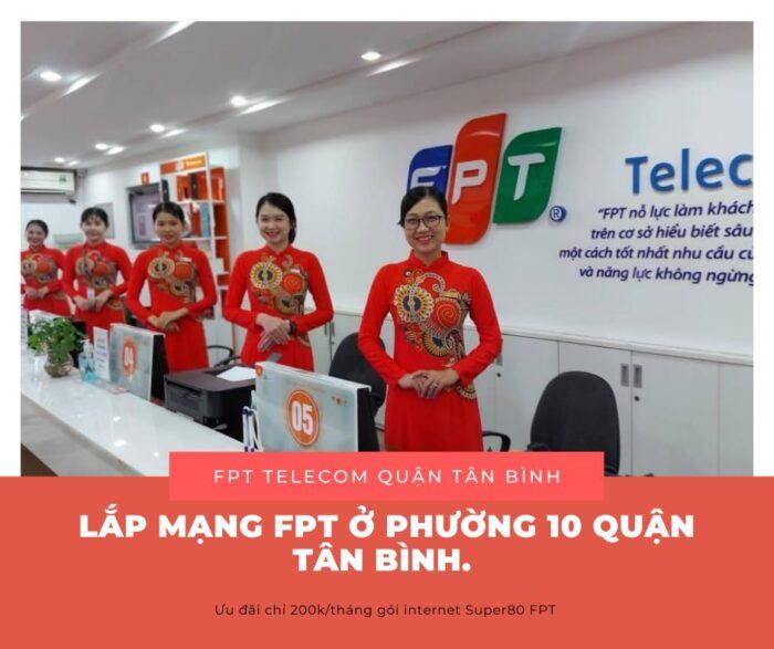 Lắp mạng ở Phường 10 Quận Tân Bình - Hãy chọn ngay mạng FPT.