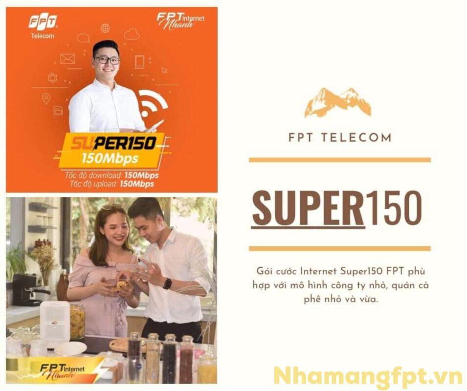 Giới thiệu gói cước Super150 FPT tốc độ cao nhất cho hộ gia đình.