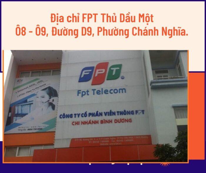 Địa chỉ FPT Thủ Dầu Một ở Ô8-Ô9 Đường D9, P.Chính Nghĩa.