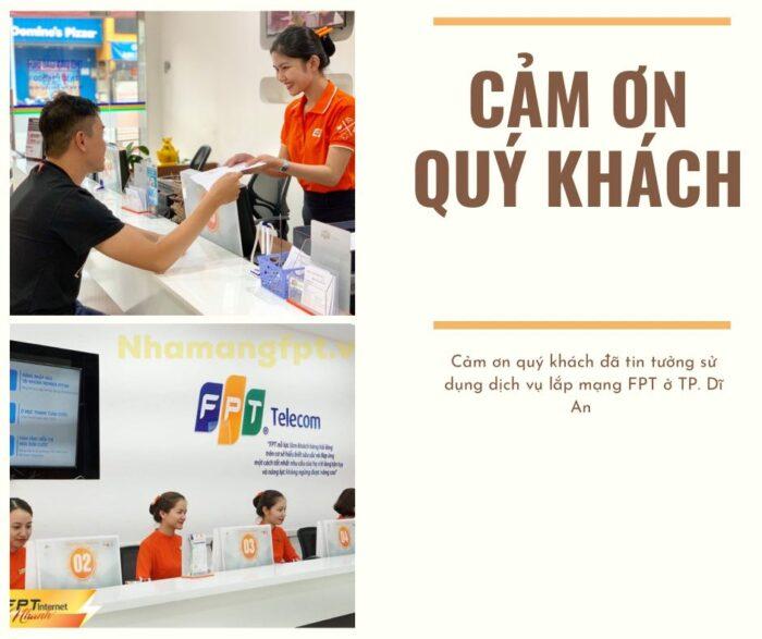 FPT Telecom cảm ơn quý khách đã tin tưởng, ủng hộ các dịch vụ FPT ở Dĩ An.