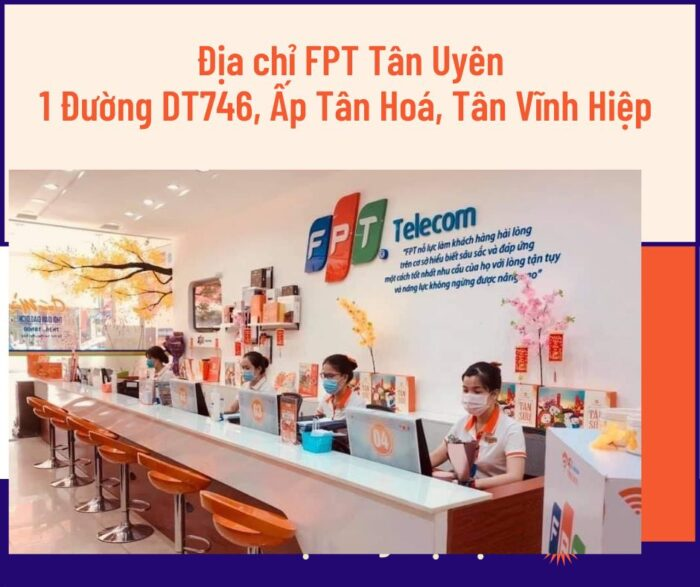 Địa chỉ FPT Tân Uyên ở Số 1, Đường DT746, Ấp Tân Hóa, Tân Vĩnh Hiệp.
